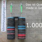 Klimmzugstange W4 belastet mit 1.000 kg – das ist Qualität made in Germany!